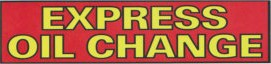 EXPRESS OIL CHANGE banner sign 3x8ft