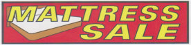 MATTRESS SALE BANNER sign