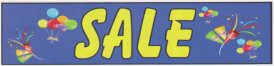 SALE BALLOONS banner sign 3x8ft
