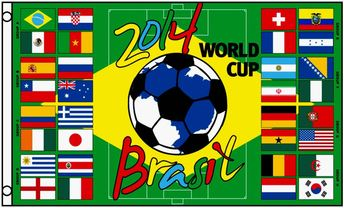 2014 Soccer World Cup groups 3x5ft Flag
