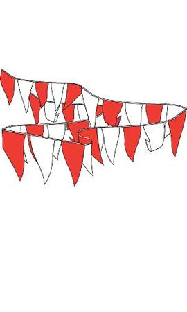 Pennant string 105ft colors red white