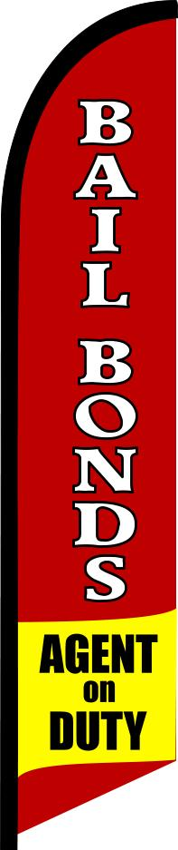 BAIL BONDS AGENT on DUTY swooper banner sign flag