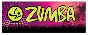 Zumba purple large banner sign 3x8ft