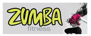 Zumba white large banner sign 3x8ft