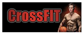 Crossfit large banner sign 3x8ft
