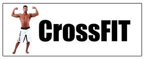 Crossfit white large banner sign 3x8ft