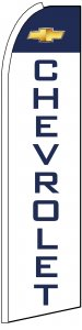Chevrolet auto dealer large swooper banner sign flag