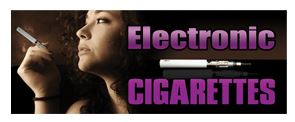 Electronic cigarettes vapor black large banner sign 3x8ft