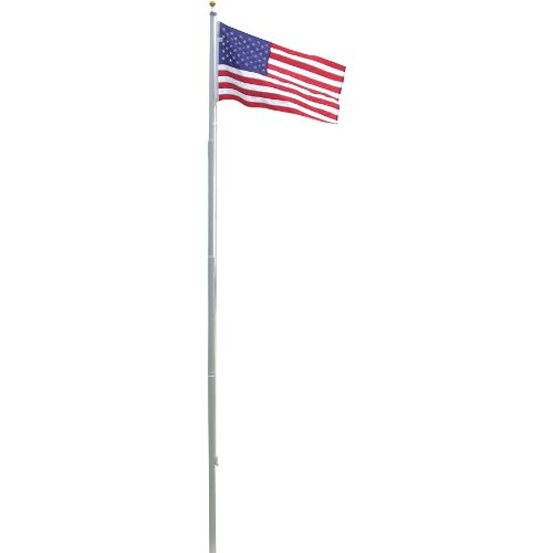 25 ft tall sectional aluminum flag pole with US flag