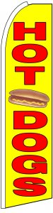 HOT DOGS food swooper banner sign flag