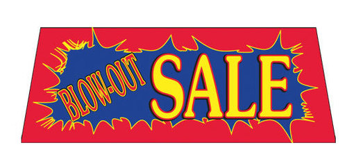 BLOW-OUT SALE Car Dealer Windshield banner sign