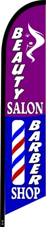 BEAUTY SALON BARBER SHOP swooper banner sign flag