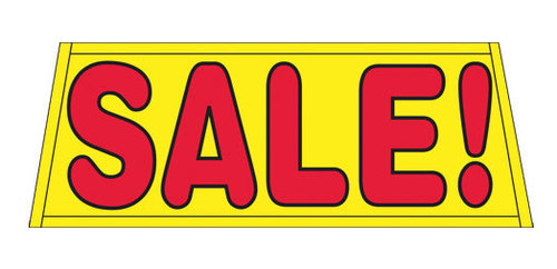 SALE yellow/red Car Dealer Windshield banner sign
