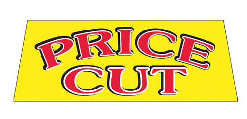 PRICE CUT Car Dealer Windshield banner sign