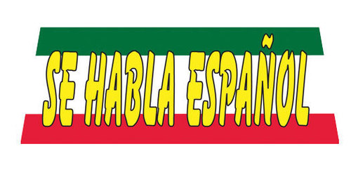 SE HABLA ESPANOL Car Dealer Windshield banner sign