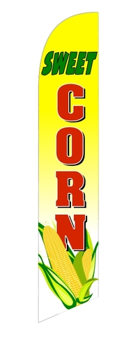 Sweet fresh corn custom swooper feather banner flag