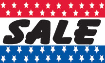 SALE stars flag banner 3x5ft