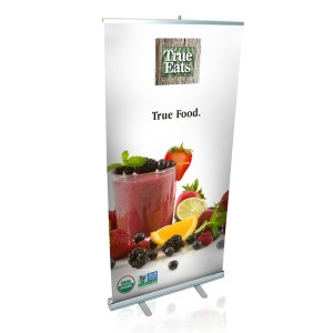 "33""W X 80""H RETRACTABLE BANNER STAND with PRINT"