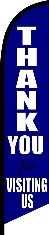 THANK YOU for VISITING US swooper banner sign flag