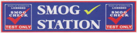 LARGE SMOG STATION BANNER sign