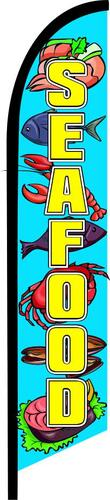 SEAFOOD swooper banner sign flag sign