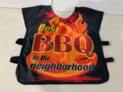 BEST BBQ in the neighborhood Referee style vest LARGE
