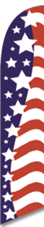 USA stars swooper feather banner flag sign