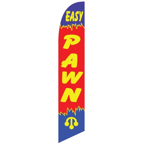 Easy Pawn shop swooper feather banner sign flag