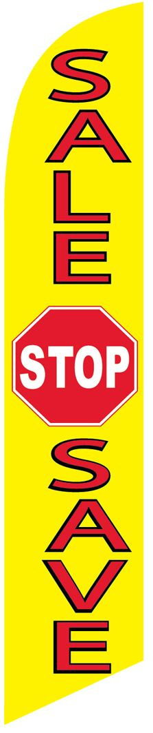 Sale stop save swooper banner sign flag