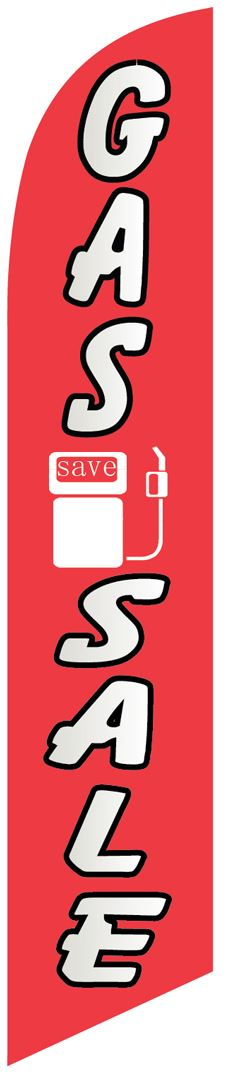 Gas sale save swooper banner flag
