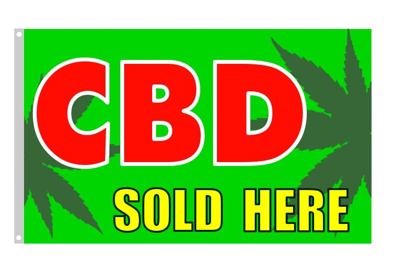 CBD SOLD HERE custom flag banner 3x5ft