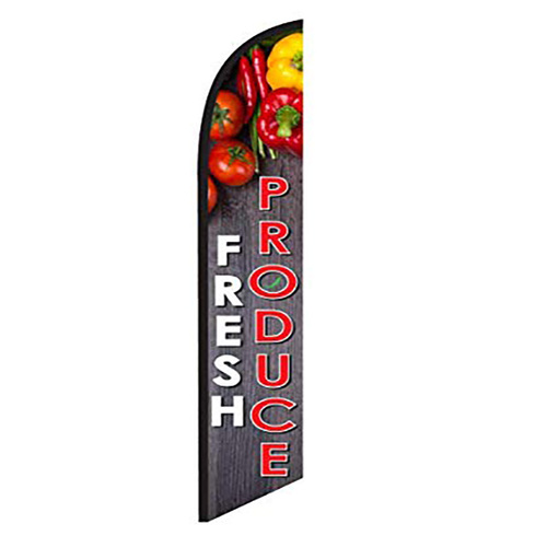 FRESH PRODUCE swooper banner sign flag