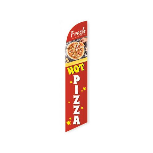 Fresh hot pizza swooper feather banner flag