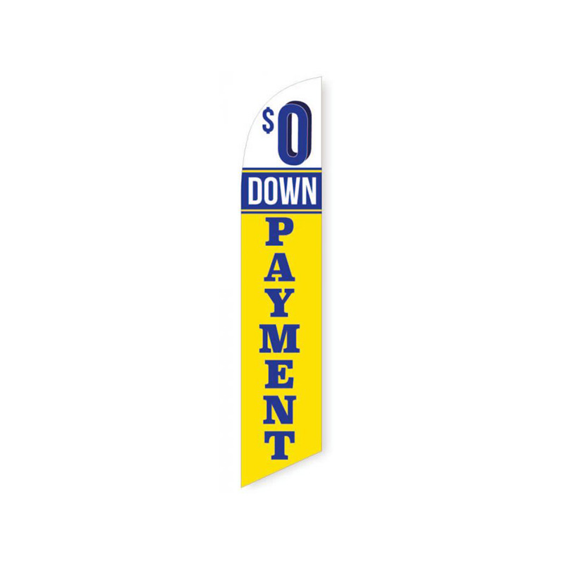 0 DOWN PAYMENT dealer swooper banner sign flag
