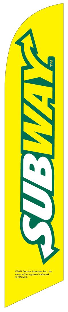 SUBWAY restaurant swooper banner sign flag