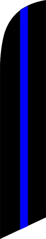 Thin Blue Line Flag custom swooper feather banner flag