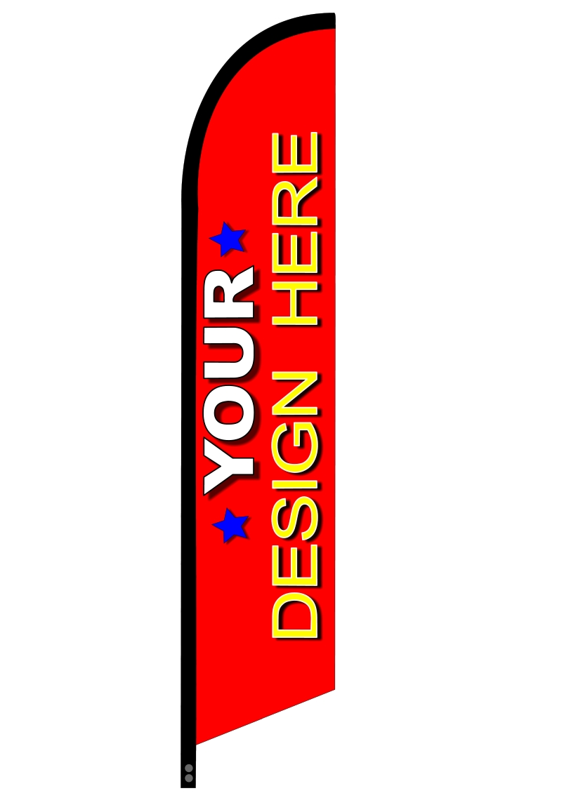 1A YOUR CHOICE custom swooper feather flag