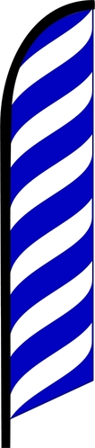BLUE lines waves swooper banner sign flag