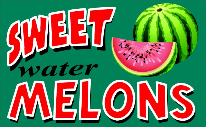 SWEET MELONS flag banner 3x5ft