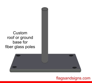 Roof / deck mount for swooper flags with fiber glass poles