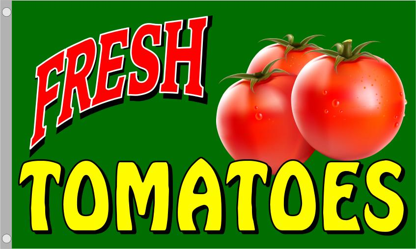 FRESH TOMATOES flag banner 3x5ft