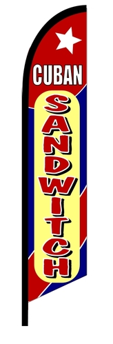 CUBAN SANDWITCH swooper banner sign flag
