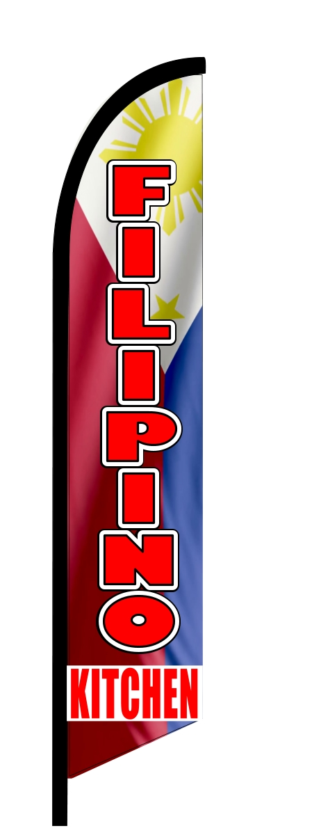 FILIPINO KITCHEN swooper banner sign flag 8454