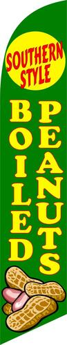 SOUTHERN STYLE boiled peanuts green swooper banner sign flag