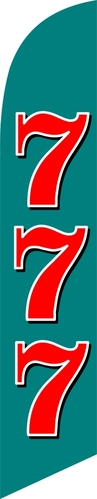 Lucky seven 777 custom swooper feather banner sign flag