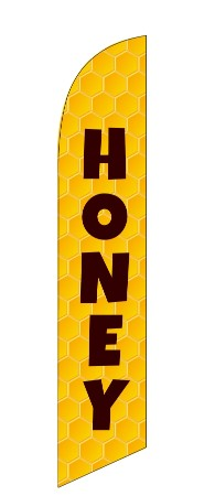 HONEY COMB custom swooper banner flag