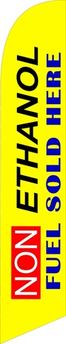 Non ethanol fuel sold here swooper banner flag yellow