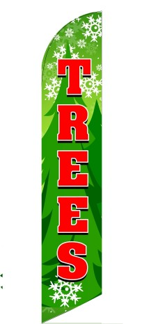 CHRISTMAS HOLIDAY TREES custom swooper banner sign flag
