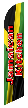 JAMAICAN KITCHEN swooper feather banner flag