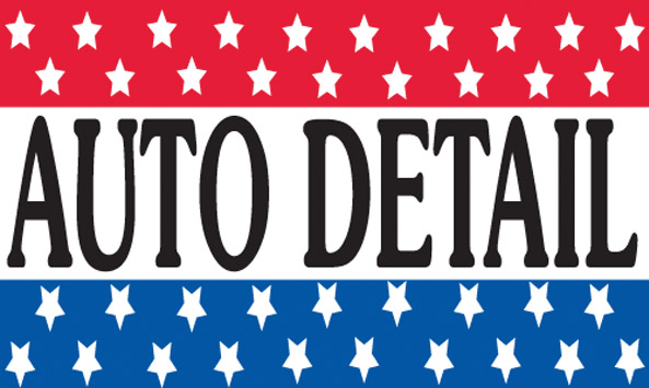 AUTO DETAIL flag banner 3x5ft